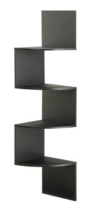 "4D Concepts San Dimas Collection 99X00 54"" Hanging Corner Wall Mounted Storage with 4 Contoured Shelves in"
