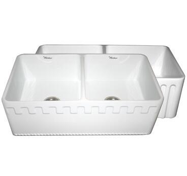 Whitehaus WHFLATN3318SBLU Kitchen Sink