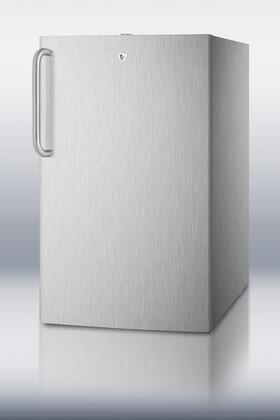 "Summit CM421BLCSS 20"" CM421BLBI Series Compact Refrigerator with 4.1 cu. ft. Capacity in Stainless Steel"
