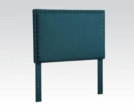 Acme Furniture 3911BL Sabina Size Headboard with Fabric Upholstery, Nailhead Accents, Pine Wood and Plywood Frame in Blue Linen