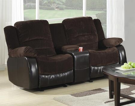 Coaster 600363L Fabric Stationary with Wood Frame Loveseat