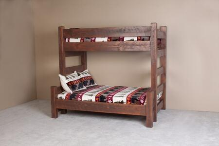 Viking Log Furniture Nbw92 Barnwood Series Twin Over Full Size Bunk