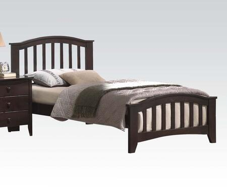 Acme Furniture 04980 San Marino Bed with Slightly Tapered Legs, Rounded Top Edge, Hardwood Solids and Veneers in Dark Walnut