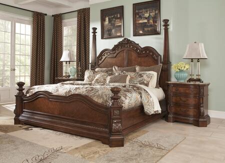 Milo Italia BR790QBEDROOMSET Mcgrath Queen Bedroom Sets