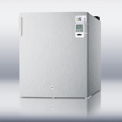 """Summit FS22LCSSMEDSC 18"""" Medical Series  Freezer with 1.42 cu. ft. Capacity in Stainless Steel"""