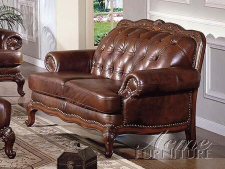 Acme Furniture 05946A Birmingham Series Leather Loveseat with Wood Frame Loveseat