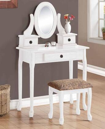 Acme Furniture 90153 Jonas Series Wood 3 Drawers Vanity