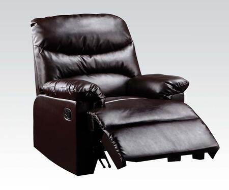 Acme Furniture 59015 Arcadia Series Contemporary Bonded Leather Wood Frame  Recliners