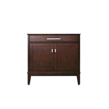 "Avanity Madison MADISON-VXX-LE X"" Vanity Only with X Soft-Close Doors, X Soft-Close Drawers, Brushed Nickel Finished Hardware, and Adjustable Height Levelers in a Light Espresso Finish"