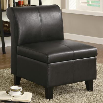 Coaster 900270 Armless Faux Leather Wood Frame Accent Chair