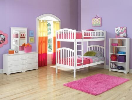 Atlantic Furniture YBBRICHMONDTWINTWINALWH Richmond Series  Twin Size Bunk Bed