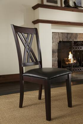 AAmerica MONES257K Montreal Series Contemporary Leather Solid Asian Hardwood Frame Dining Room Chair