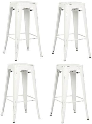 EdgeMod EM126DISWHIX4 Trattoria Series Commercial Not Upholstered Bar Stool