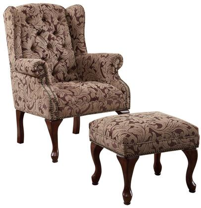 Coaster 3932B Accent Seating Series Fabric Wood Frame Accent Chair