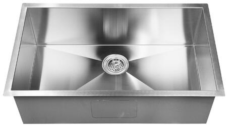 """Barclay PSSSB220 Salome X"""" Undermount Prep Sink with a Rectangular Shape, Solid 16 Gauge, 304 Grade Metal Construction, Mounting Clips and Template in Matte Stainless Steel"""