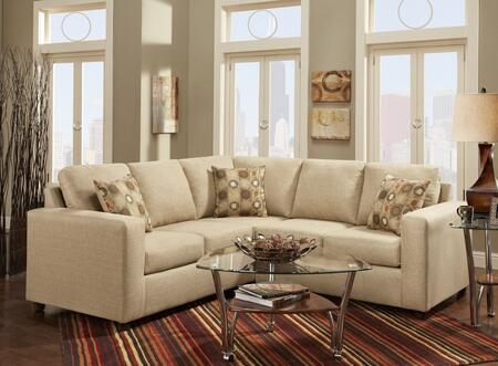 Chelsea Home Furniture 193850SECV Celine 2 PC Sectional with  Left Arm Facing Sofa, Right Arm Facing Loveseat, Toss Pillows and Fabric Upholstery in