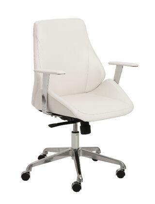 "Euro Style 00475WHT 26.75"" Modern Office Chair"