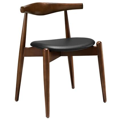 Modway EEI-1080 Stalwart Dining Side Chair with Modern Design, Solid Beechwood Frame, Foam Cushion, and Vinyl Upholstery