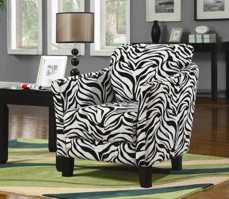 Coaster 900404 Club Fabric Wood Frame Accent Chair