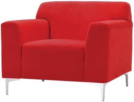 Glory Furniture G330C Velvet Armchair in Red