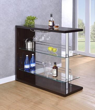 """Coaster 100166 Bar Units and Bar Tables Series 15.75"""" Wine Bar,"""