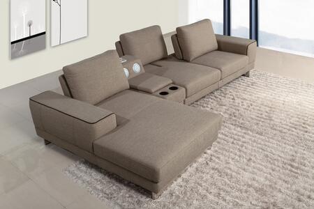 VIG Furniture VGMB1374 Divani Casa Gatsby Series Stationary Fabric Sofa