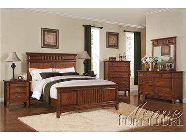Acme Furniture 19437EK Harvest Series  King Size Panel Bed