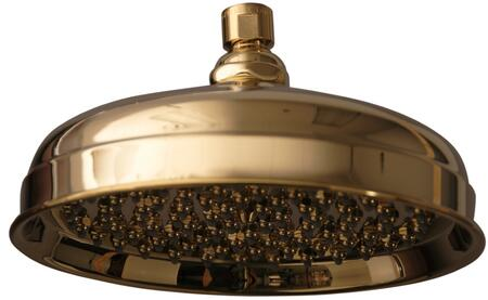 """Barclay 5589 10"""" Euro Showerhead with 126 Brass and Rubber Nozzles:"""