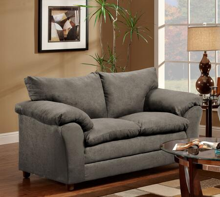 Chelsea Home Furniture 471150LFG Gail Series Polyester Stationary with Wood Frame Loveseat
