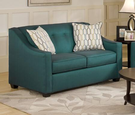 Chelsea Home Furniture 475440LSSPEA Brittany Series Fabric Stationary with Wood Frame Loveseat