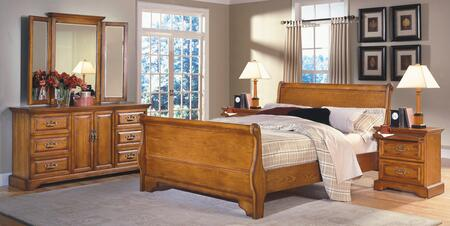 New Classic Home Furnishings 1133QSBDMNN Honey Creek Queen B
