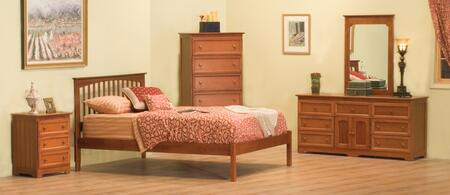 Atlantic Furniture BROOFNMQN Brooklyn Series  Bed