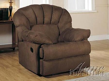 Acme Furniture 15106 Rainer Series Contemporary Microfiber Wood Frame  Recliners