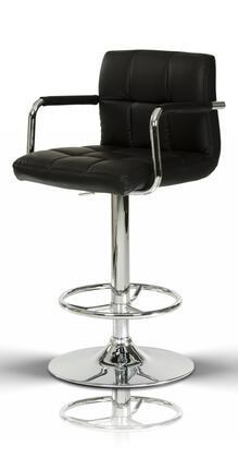 VIG Furniture VGCBT1177BLK Modrest Series Residential Bar Stool