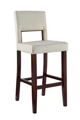 Linon 14054WHT01KDU Vega Series Commercial or Residential PVC Upholstered Bar Stool