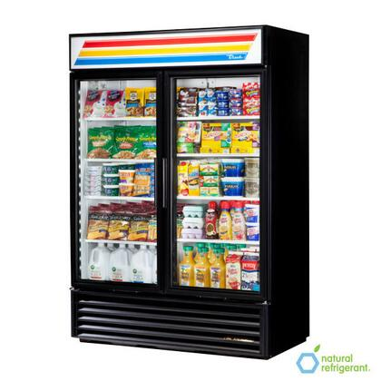 True GDM-49 Refrigerator Merchandiser with 49 Cu. Ft. Capacity, LED Lighting, and Thermal Insulated Glass Swing-Doors
