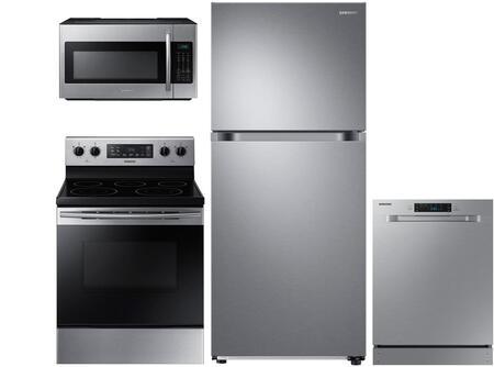 Samsung 863423 4 Piece Stainless Steel Kitchen Liances Package