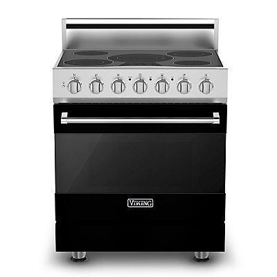 Viking RVER3305BBK  Black Freestanding Range with Smoothtop Cooktop, 4.7 cu. ft. Primary Oven Capacity,