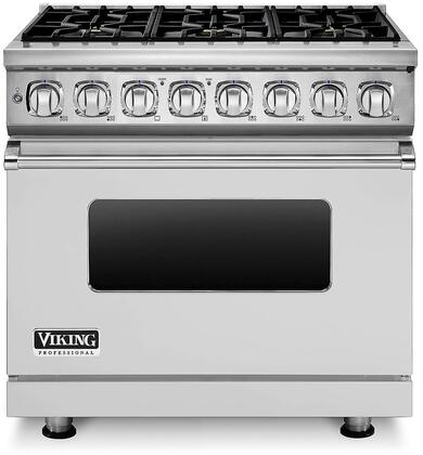 "Viking Professional 7 Series VDR7366 36"" W. Sealed Burner Dual Fuel Liquid Propane Range with 6 Burners, ViChrome  Griddle and SureSpark  Ignition System in"