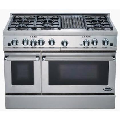 DCS RGT486GLSSN  Gas Freestanding Range with Sealed Burner Cooktop, 5.3 cu. ft. Primary Oven Capacity, in Stainless Steel