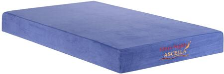 "Glory Furniture Ascella Collection 8"" Memory Foam Mattress with Visco Memory Foam, Removable and Washable Cover in"