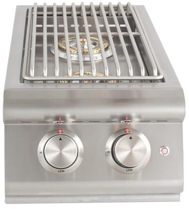Blaze BLZ-SB2LTE Double Side Burner with 12000 BTU per Brass Burner, Cover, Illuminated Control Knobs, in Stainless Steel