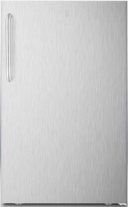 "Summit FF521BLXSSXADA 20"" AccuCold Series ADA Compliant Medical Freestanding Compact Refrigerator with 4.1 cu. ft. Capacity, Automatic Defrost, Adjustable Glass Shelves and Thermostat and Interior Light:"