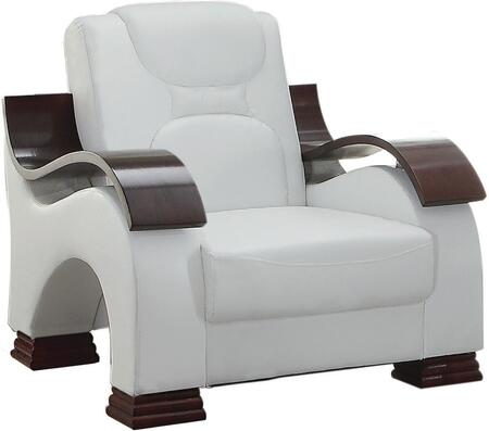 Glory Furniture G487C Faux Leather Armchair in White