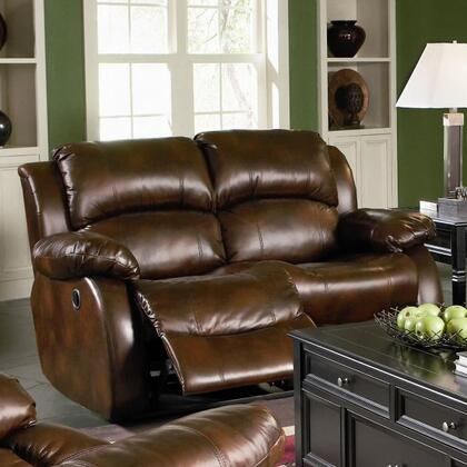Coaster 600472 Leather Reclining with Wood Frame Loveseat