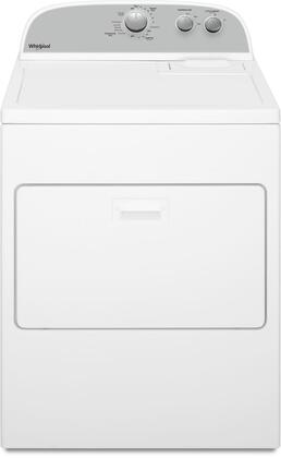 Whirlpool WxD4950HW Top Load Dryer with 7 cu. ft. Capacity, AutoDry Drying System, Hamper Door, Timed Dry, 3 Drying Temperatures, in White