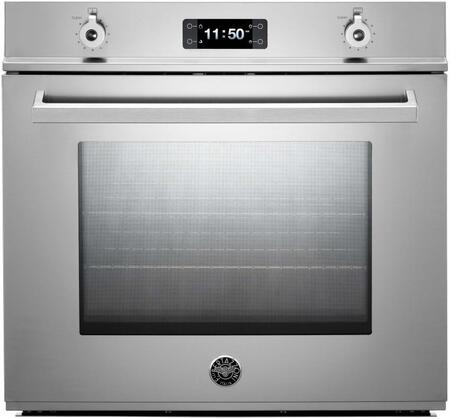 """Bertazzoni Professional Series F30PRO 30"""" Single Electric Wall Oven With 4.1 Cu. Ft. Dual Fan Convection Oven, Pyrolytic Self-Cleaning, 4 Heating Elements, In Stainless Steel"""