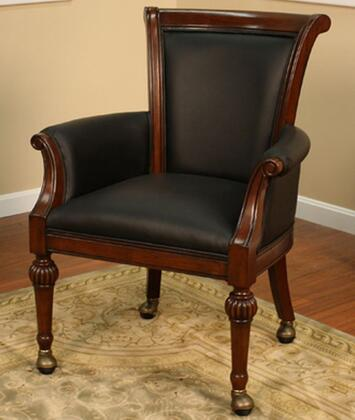 American Heritage 100769SD  Armless Wood Leather Gaming Chair