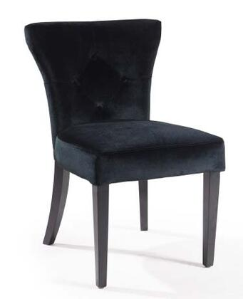 Armen Living LC8099SIX Elise Side Chair with Thick Foam Padding and Button-tufting Detail in