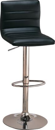 """Coaster Dining Chairs and Bar Stools 29"""" Bar Stools with Adjustable Height, Polished Chrome Steel Base, Round Foot Rest and Leatherette Upholstery in"""